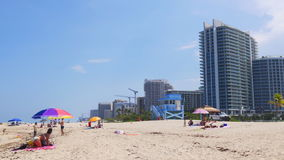 Miami beach summer day hollywood block 4k florida usa. Usa miami beach summer day hollywood block 4k florida stock footage