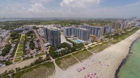 Miami Beach summer vacation aerial video Royalty Free Stock Photos