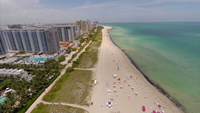 Miami Beach summer vacation aerial video Stock Images