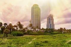 Miami Beach Sunset Stock Images