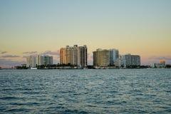Miami beach tall building Royalty Free Stock Photos