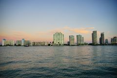 Miami beach tall building Royalty Free Stock Photo