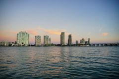 Miami beach tall building Royalty Free Stock Images
