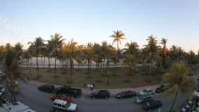 Miami Beach Time lapse Ocean Drive Fisheye stock video footage