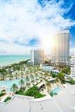 Miami beach top view stock image