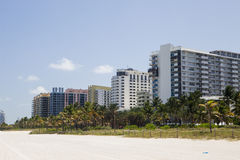 Miami Beach. The tropical paradise of Miami Beach in Florida Stock Image