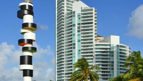 Miami Beach tropical scene stock footage