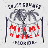 Miami Beach tycker om sommar Florida Arkivbild