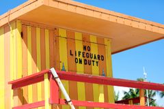 Miami beach typical lifeguard house colorful baywatch south beach Stock Images