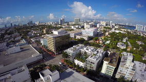Miami Beach USA aerial drone stock footage
