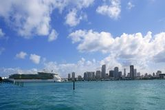 Miami Beach view from downtown Stock Image
