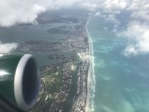 Miami Beach vom Himmel Stockbilder