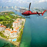 Miami Beach von oben, Florida Stockbild