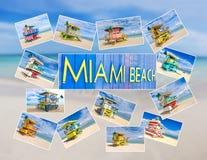 Miami Beach vykort Arkivbild