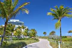 Miami Beach walkway Royalty Free Stock Photo