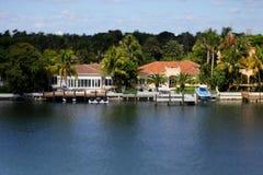 Miami Beach waterfront real estate Stock Photography