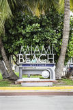 Miami Beach welcome sign Royalty Free Stock Image
