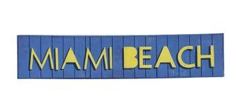 Miami Beach writing Royalty Free Stock Image