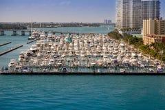Miami Beach Yacht harbour Royalty Free Stock Photos