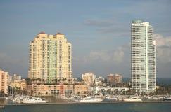 Miami- Beachgebäude stockbilder