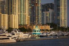 Miami- Beachjachthafen Stockbilder