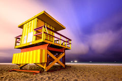 Miami- Beachleibwächter-Kontrollturm Lizenzfreie Stockfotografie