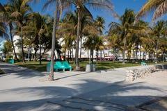 Miami- Beachuferzeile Stockfoto