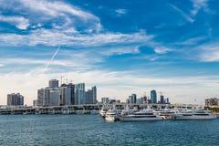 Miami Beyond MacArthur Causeway Stock Images