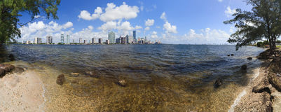Miami Biscayne Bay Panorama Royalty Free Stock Images