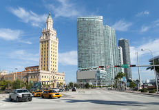 Miami Biscayne Boulevard Royalty Free Stock Photography