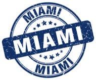 Miami blue grunge round vintage stamp Stock Photo