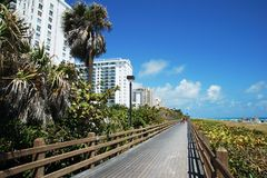 Miami Boardwalk Royalty Free Stock Photos