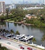 Miami-Boote Lizenzfreie Stockfotografie
