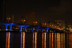 Miami-Brücke nachts Lizenzfreie Stockfotografie