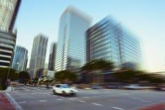 Miami Brickell Avenue. View of Miami Brickell financial district at day time Stock Photo