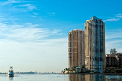 Miami Brickell Key Apartments royalty free stock images