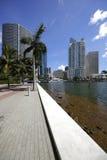 Miami Brickell Scene Royalty Free Stock Photos