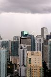 Miami Buildings with Storm Clouds Royalty Free Stock Photos