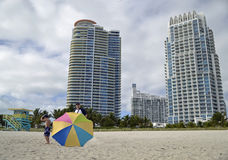 Miami byggnader Royaltyfria Bilder