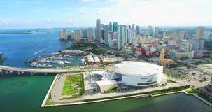 Miami céntrica florida EE.UU. almacen de metraje de vídeo