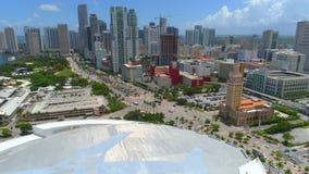 Miami céntrica hermosa video aérea metrajes