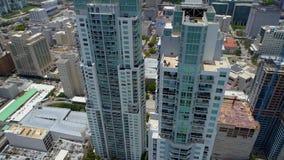 Miami céntrica Vizcayne que construye Biscayne 4k almacen de video