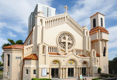 Miami Cathédrale épiscopale de trinité sainte image libre de droits