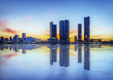 Miami city by night Royalty Free Stock Photography