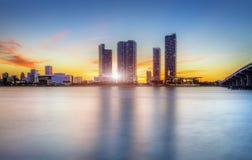 Miami city by night Stock Photo