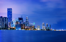 Miami city by night Royalty Free Stock Image