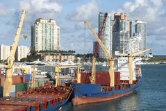 Miami City Port Royalty Free Stock Images