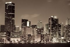 Miami city at night Royalty Free Stock Image