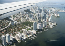 Miami city skyline from above. Royalty Free Stock Image