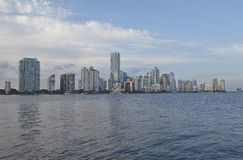 Miami city skyline panorama at day Stock Photography